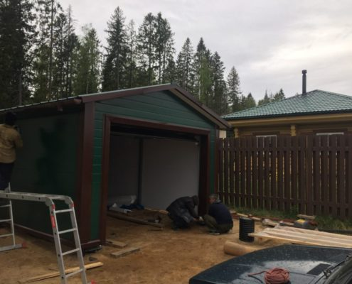 проектирование гаража из сэндвич панелей