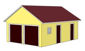 проект гаража с двумя местами