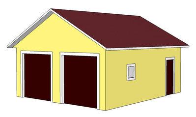 двухместный гараж строительство