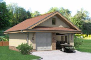 Двухэтажный гараж схема строительства