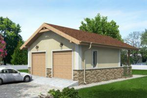 проект Двухэтажный гараж