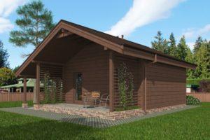 деревянный Двухэтажный гараж
